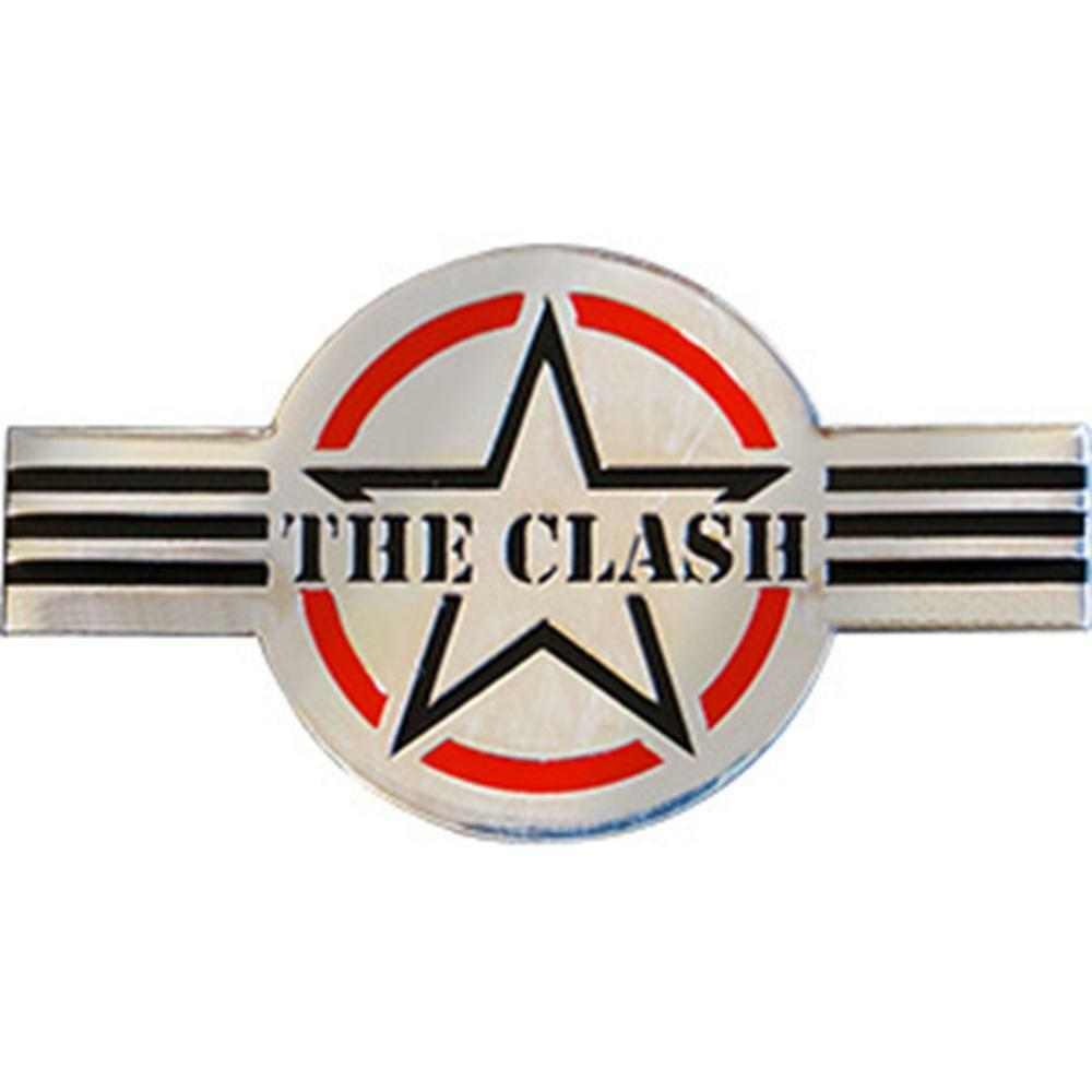 Details about the clash logo chrome metal large sized new sticker decal punk rock music band