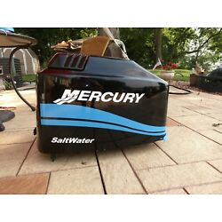 Kyпить MERCURY BOAT MOTOR COWL DECAL SET  Saltwater Series Blue Stripe + Size Choices на еВаy.соm