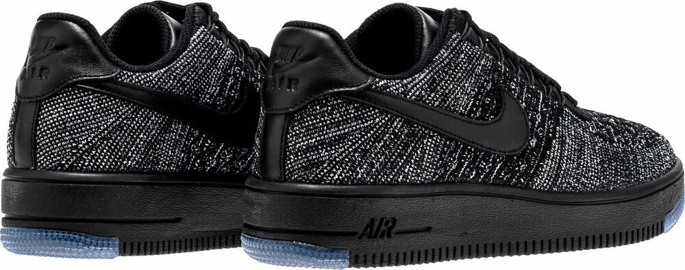 watch 75990 1dab8 Details about Nike Wmns AF1 Flyknit Low Air Force 1 One Oreo Black White  820256 007 Size 5.5