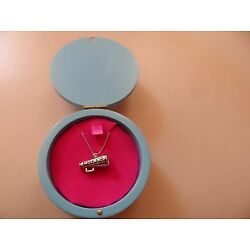 Cheerleader megaphone Pendant Necklace With Wooden Gift Box