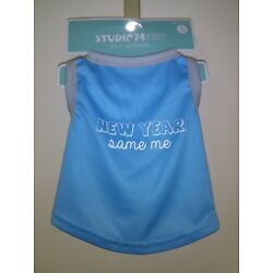 Light Blue Dog Tank Top Size S ''New Year, Same me''