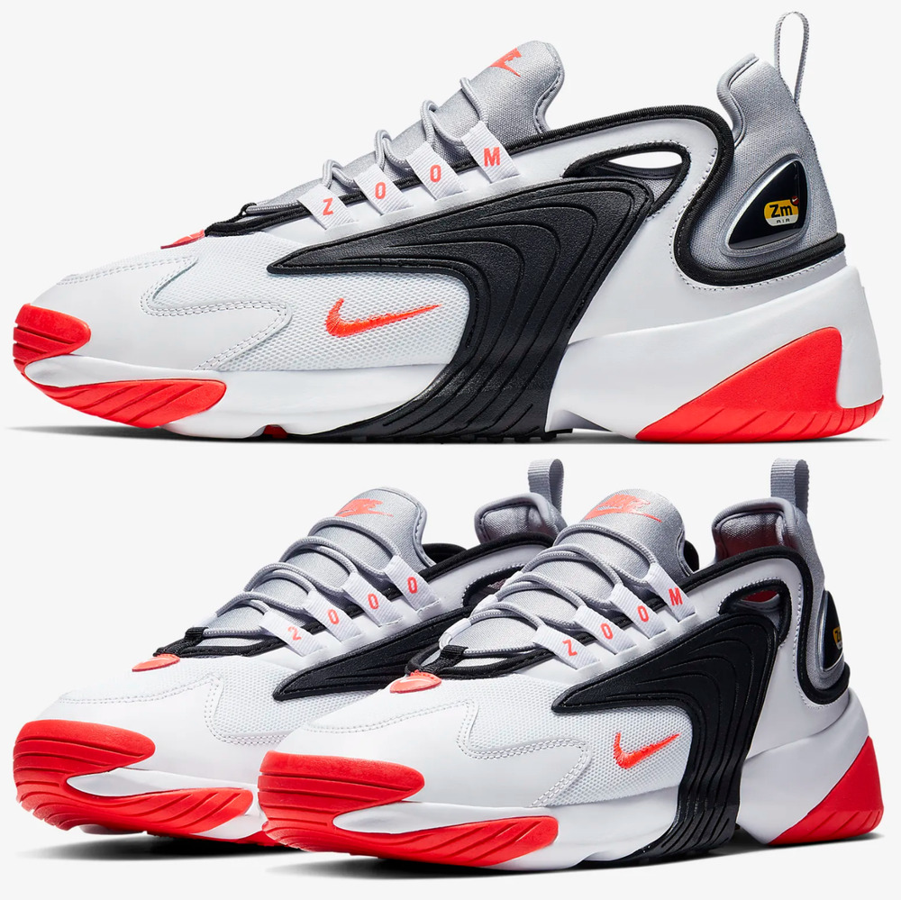 newest collection f2b9b 422b4 Details about Nike Zoom 2K Sneakers Men s Lifestyle Shoes White Infrared