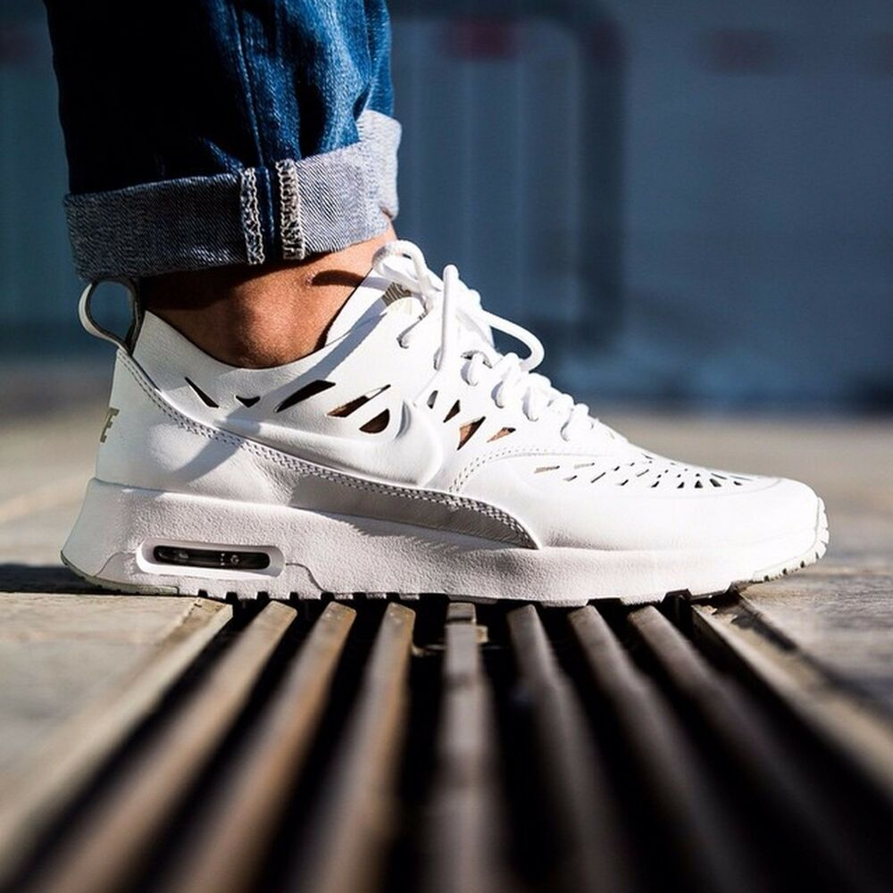 b568f5403d Details about Nike Air Max Thea Joli Womens Shoes Size 10.5 725118-100 White/Gray  Leather