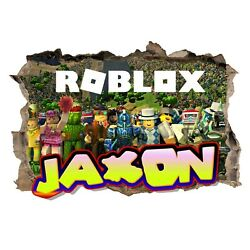 Personalised Any Name Roblox Wall Decal 3D Art Stickers Vinyl Room Bedroom 3