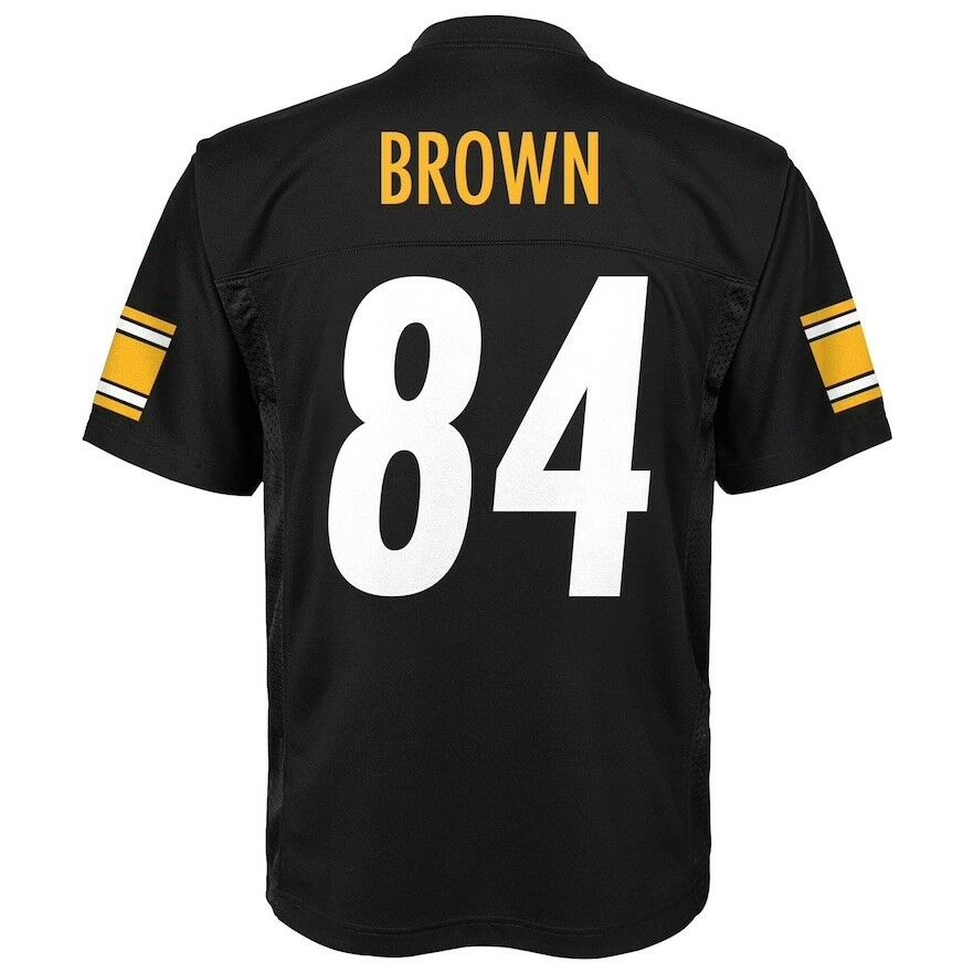 f8356e2c55c Details about Brand New Pittsburgh Steelers Antonio Brown Boys Youth  Football Jersey (L) Large