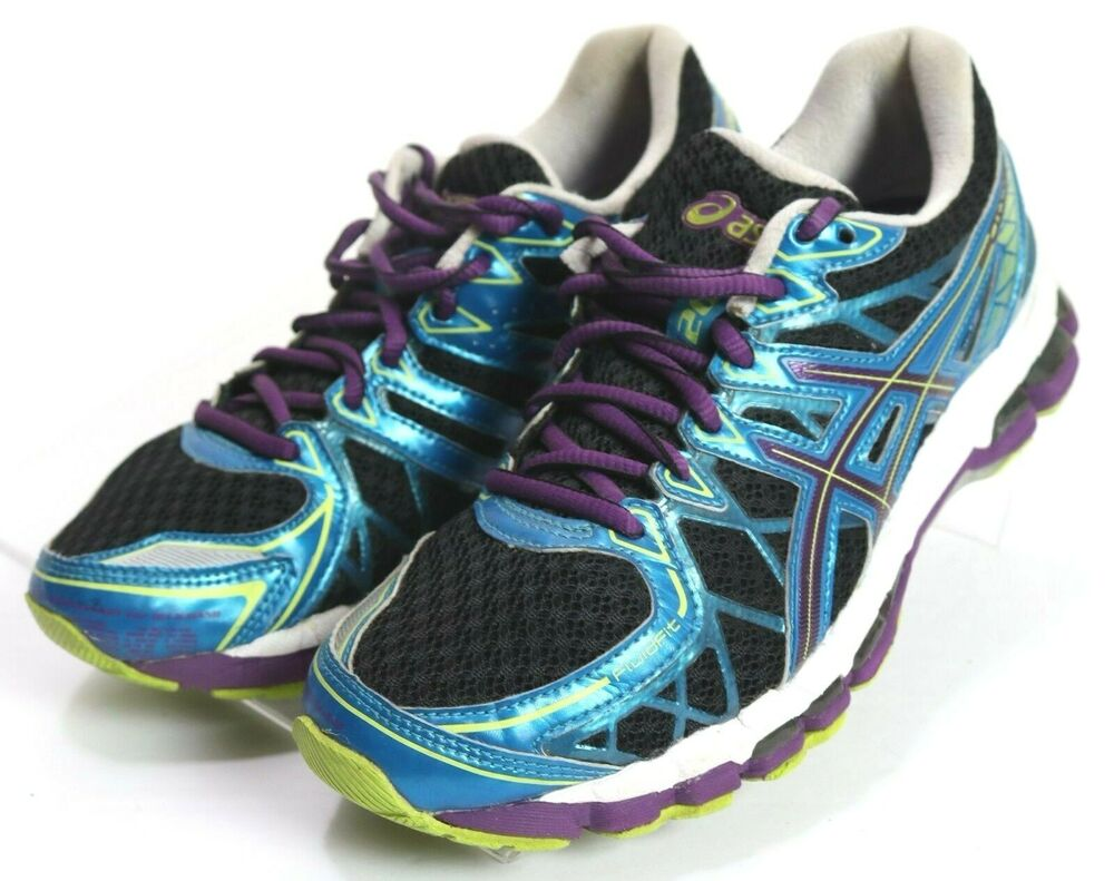 purchase cheap 531c3 f296c Details about Asics Gel-Kayano 20  133 Women s Running Shoes Size 6.5 Blue  Purple Black
