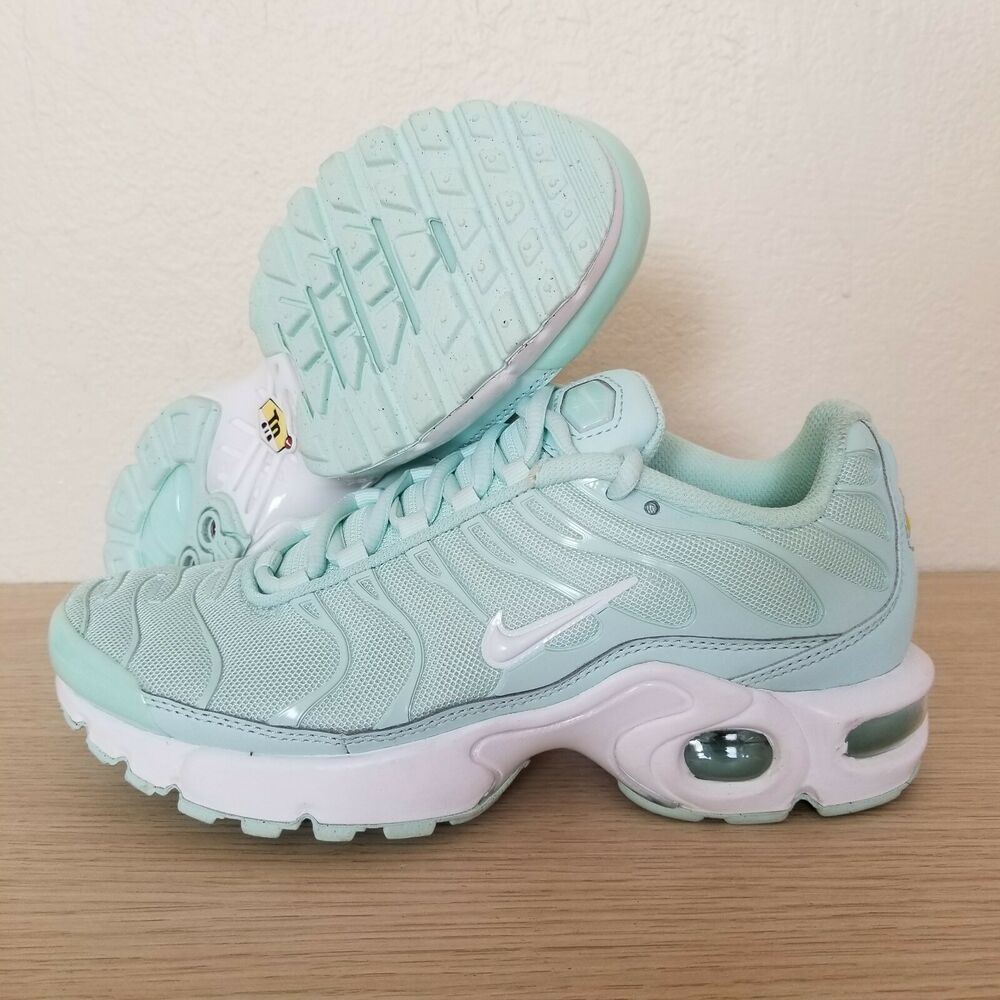 best website 92aea aaaf8 Details about Nike Air Max Plus TN Igloo White Mint Green (B-Grade) GS Size  5Y (718071-300)