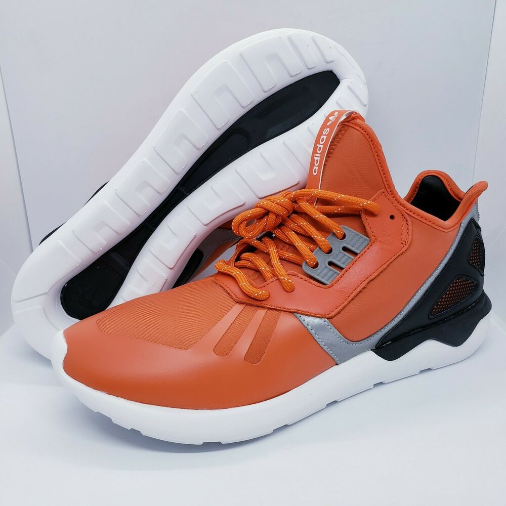 hot sale online dae8e 36ba4 Details about Adidas Men s Size 11 Tubular Runner Shoes 3M Reflective  Orange B25524 Brand New
