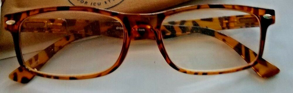 a973a1321886 Dr. Dean Edell 1.25 Carmel Reading Glasses w Case Tortoise Spring Hinges  78041138853