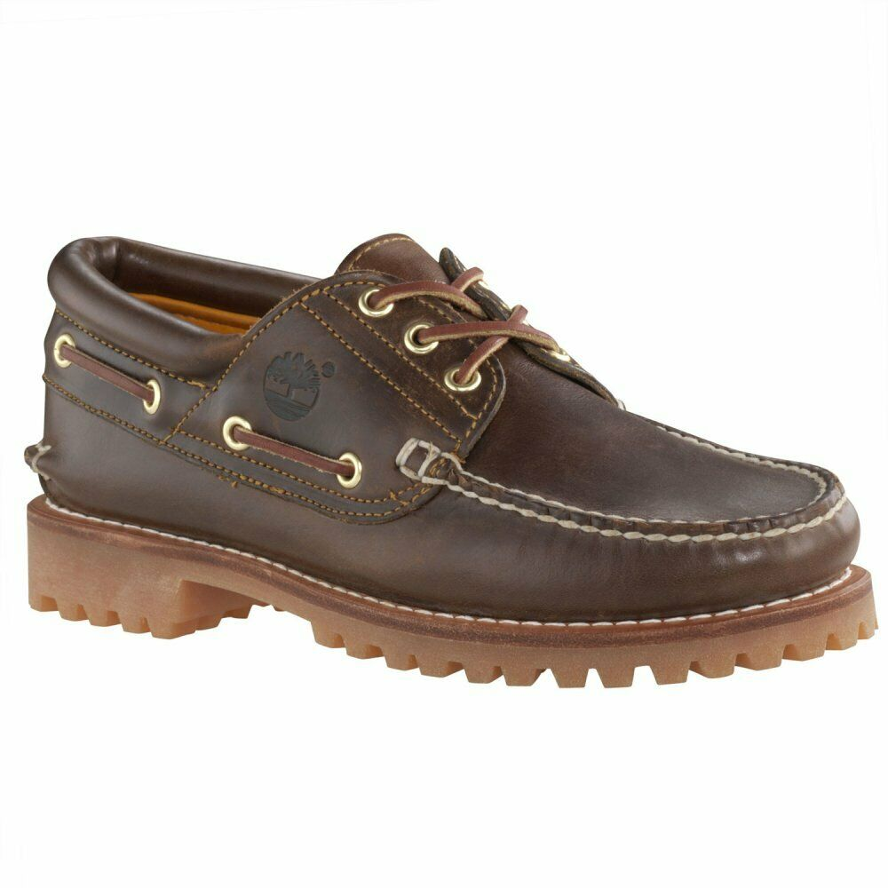 38d1e5ca86 Details about Timberland 3 Eye Brown (Z107) 30003 Heritage Classic Lug Mens  Boat Shoe All Size