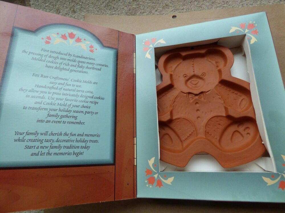 Fox Run Terracotta Cookie Mould Teddy Bear Mould Christmas Biscuits Mould Ebay
