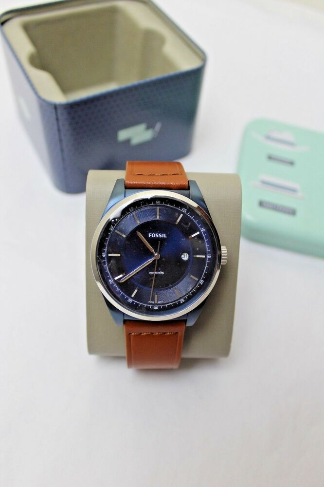 c798e8937a6 Details about NWT Fossil FS5380 Neutra Chronograph Brown Leather Men s Watch