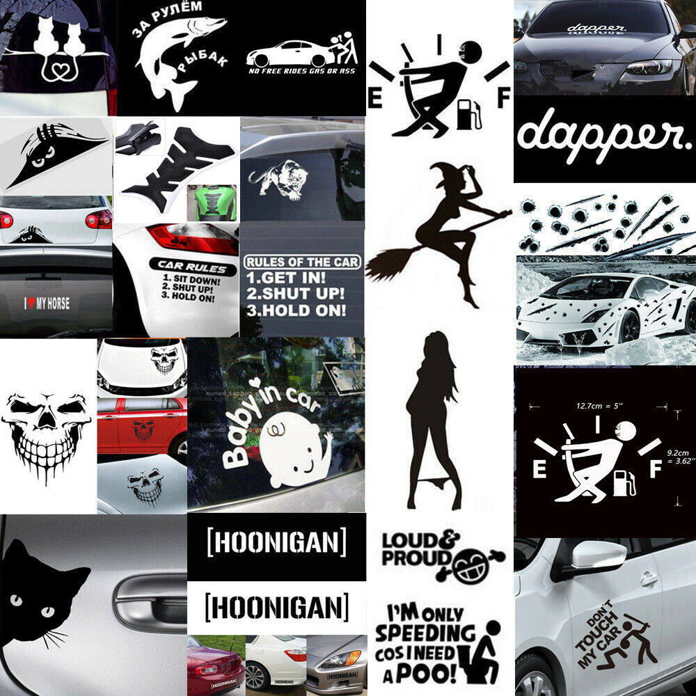 Details about boat jeep car window stickers vinyl bumper decals funny art truck laptop decor