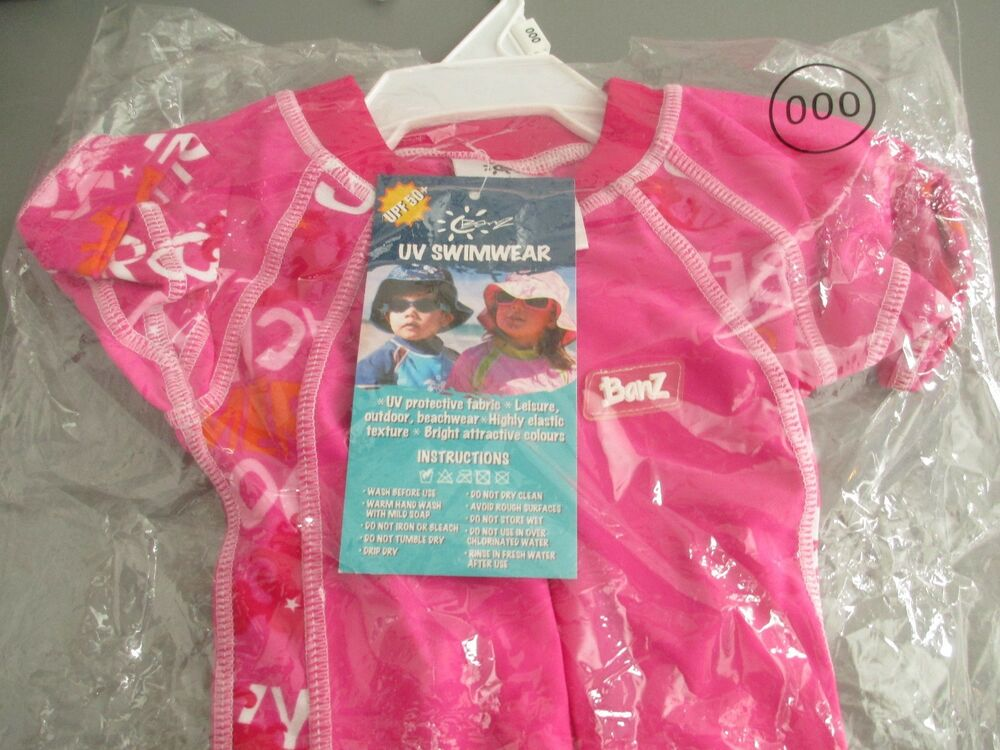 5523f401ac Girls Baby Banz Swimwear Size 0-3 mths One-Piece Pink Mermaid Sun-proof Upf- 50+ 9330696009386 | eBay
