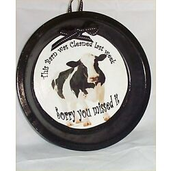 Cow Pie Plate Wall Decor Country Kitchen Decoration Decor