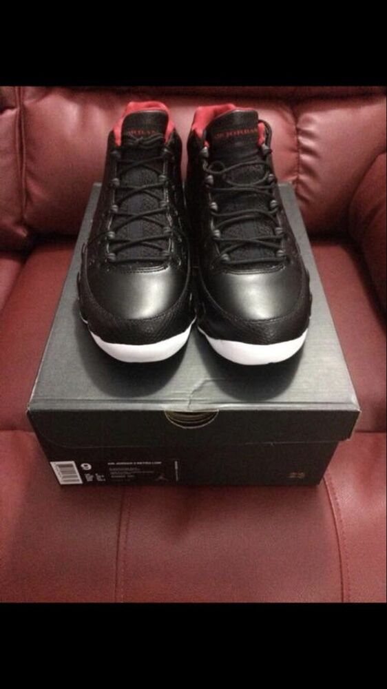 promo code 0a698 f37d7 Details about Brand New Deadstock Nike Air Jordan Retro 9 Low Black   Red  Bred