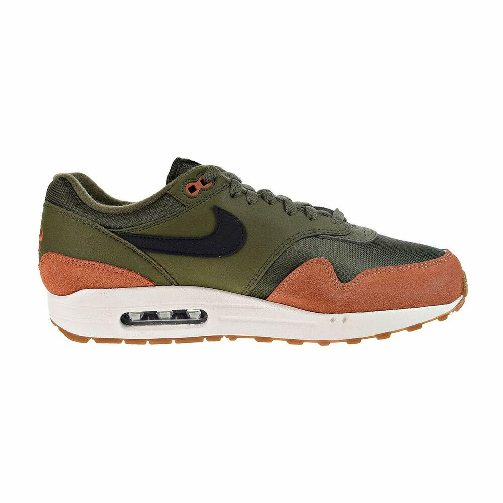 c534e65fca Details about Nike Air Max 1 Olive Canvas/Black-Dark Russet (AH8145 301)