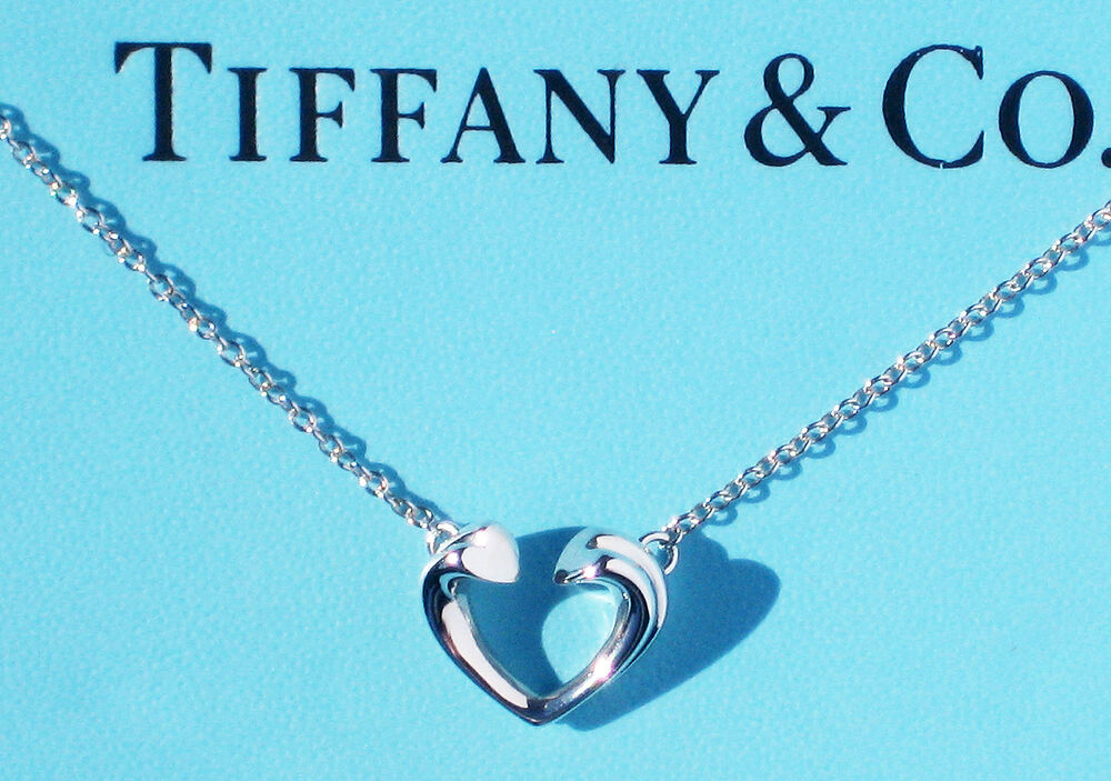 de81680d6 Details about Tiffany & Co Paloma Picasso Sterling Silver Tenderness Small  Heart Necklace