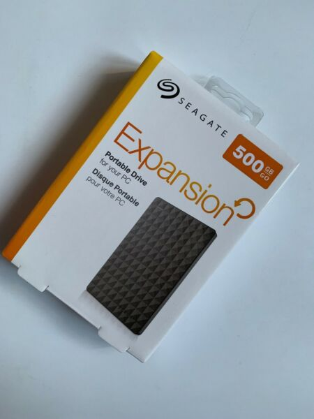 Seagate Expansion 500GB External Hard Drive USB 3.0 Portable 2.5 HDD For PC MAC