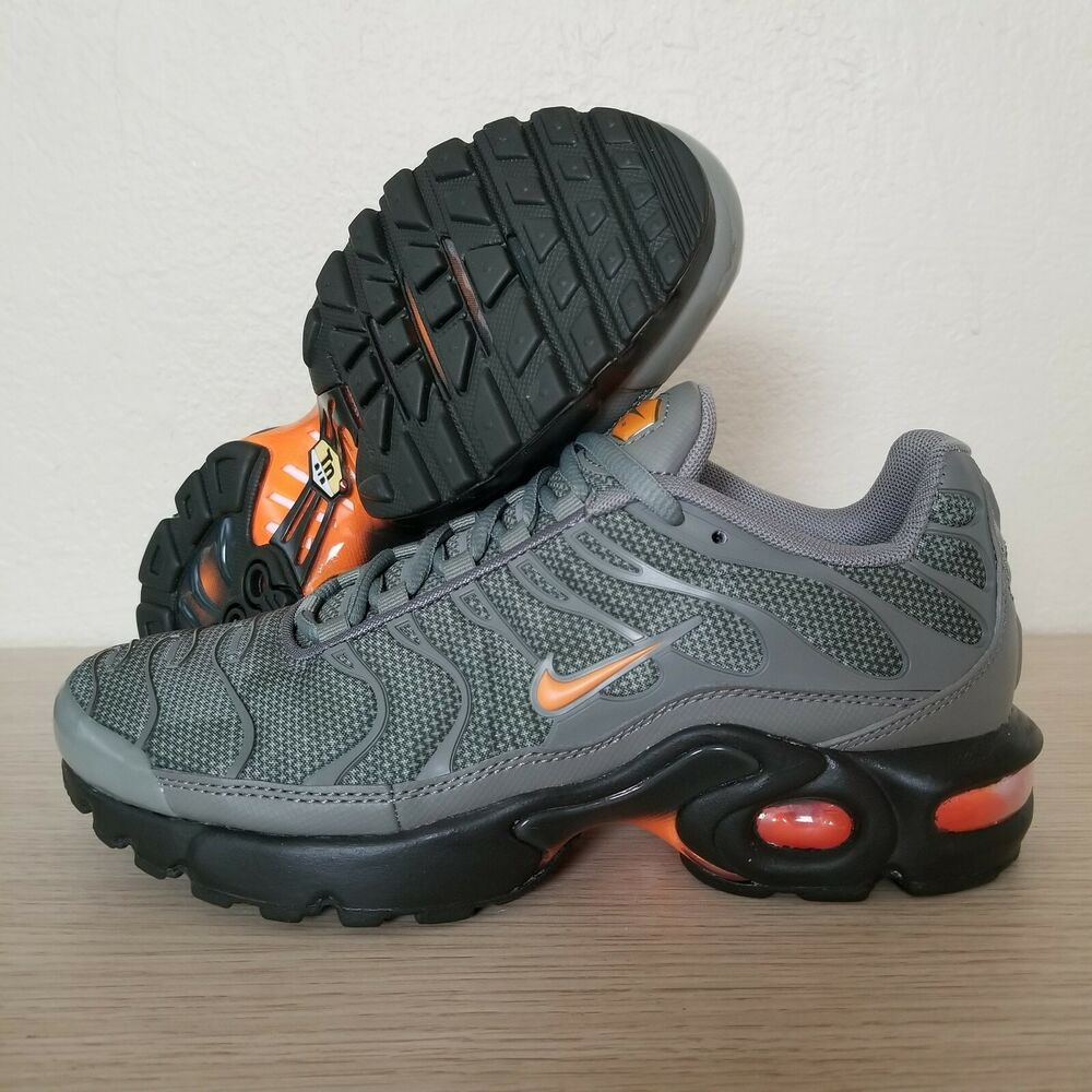 78ce9d891f Details about Nike Air Max Plus TN Tuned Youth Orange Olive Black Size 5Y  (AO5435-001)