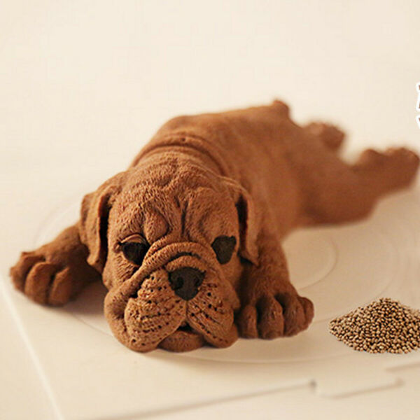 3D Dog Puppy Silicone Cake Mold Fondant Decor Chocolate Baking Cookies DIY