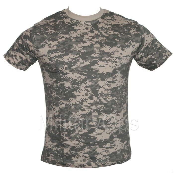 95e03d2bdddd Details about MILITARY ACU DIGITAL ALL TERRAIN CAMOUFLAGE CAMO T SHIRT US  ARMY 100% COTTON