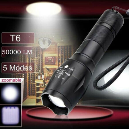 img-50000 LM X800 Tactical Flashlight Torch LED Military Alonefire Zoom Light Lamp
