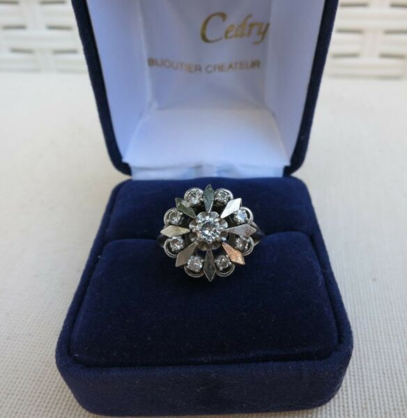 Bague ancienne diamants / old ring  white gold and platinum with diamond