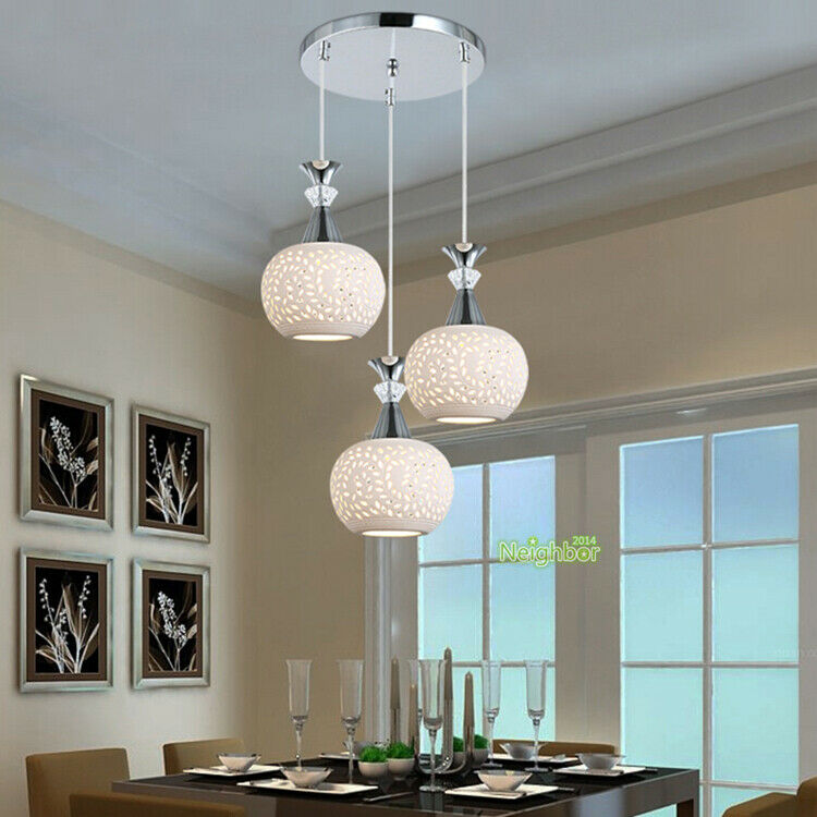 modern ceramics chandelier dining table ceiling fixtures