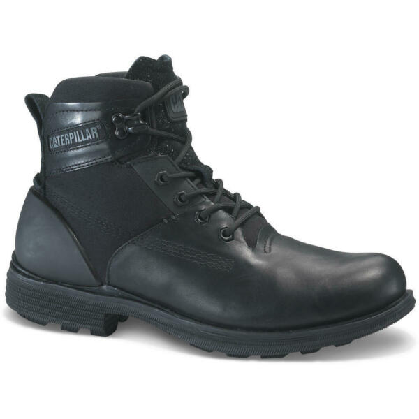 P722981 Mens CAT CATERPILLAR Ramble20 Leather Casual Black Boots MRP £125.00