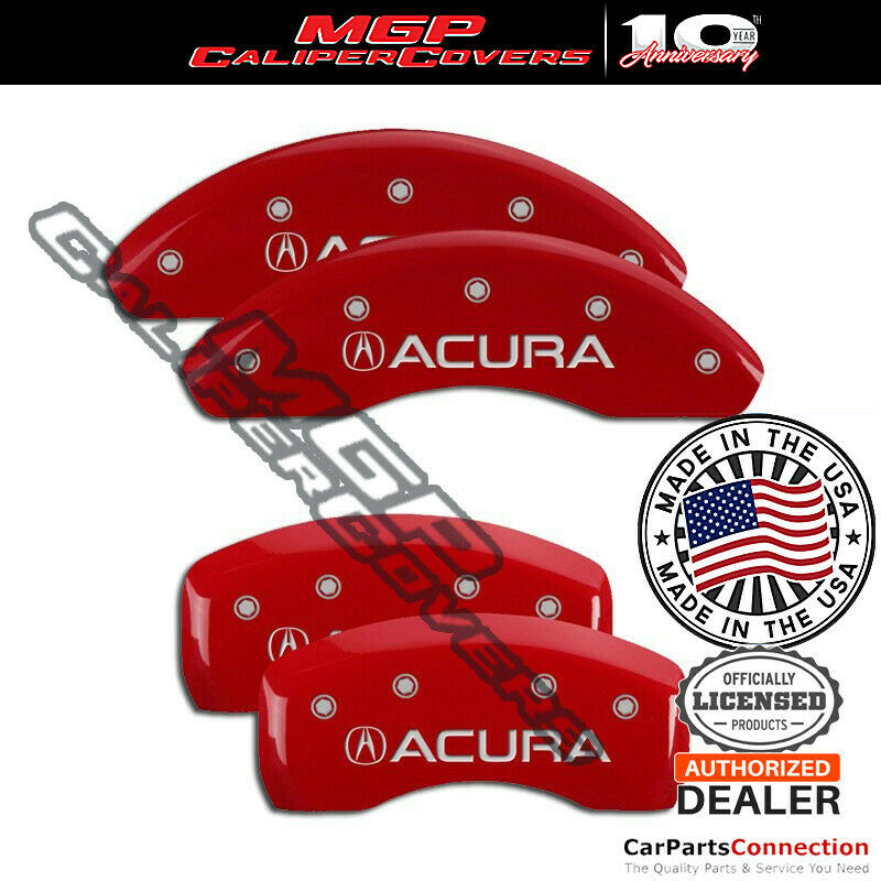 MGP Caliper Brake Cover Red 39006SACURD Front Rear For