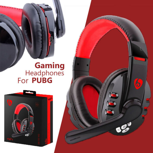 Bluetooth Gaming Gamer Headset Headphones With Mic For Phone/PC For PUBG Gamer