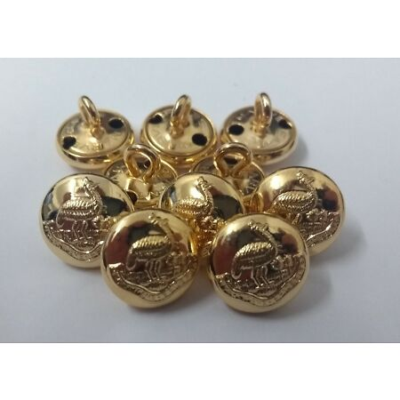 img-Genuine Vintage Rhodesia Regimental Insignia Gold Ring Buttons 13mm X10 V171