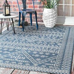 Kyпить nuLOOM Transitional Kandace Outdoor Area Rug in Blue на еВаy.соm