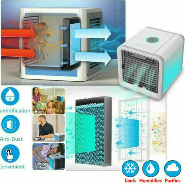 Portable Mini Air Conditioner Water Cool Cooling Fan Artic Cooler Humidifier FR