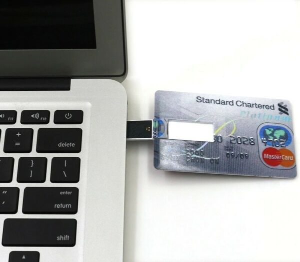 PEN DRIVE USB CREDIT CARD 32GB CARTA DI CREDITO CHIAVETTA PENNA FLASH MEMORY