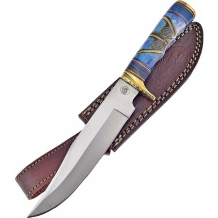 img-Couteau Frost Cutlery Thundering River Bowie Lame Acier Carbone Etui FCW594BLB