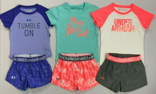 Girl's Toddler Under Armour Heat Gear Shirt and Shorts Outfit Set
