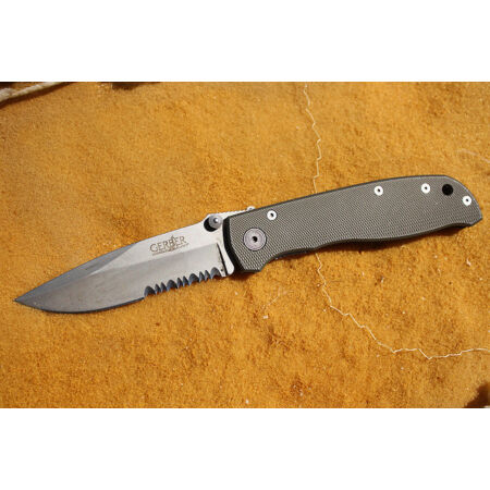 img-Couteau Gerber Harsey Air Ranger Lame Acier Carbone Serrated Manche Alu G45860