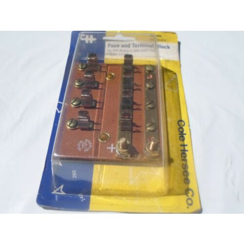 nos-m674-cole-hersee-brass-nickel-4-circuit-fuse-terminal-block-hot-rod-rat-rod