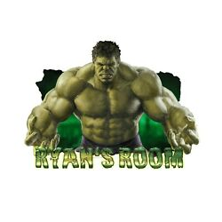 Personalised Any Name Hulk Design Wall Decal 3D Sticker Vinyl Room Bedroom