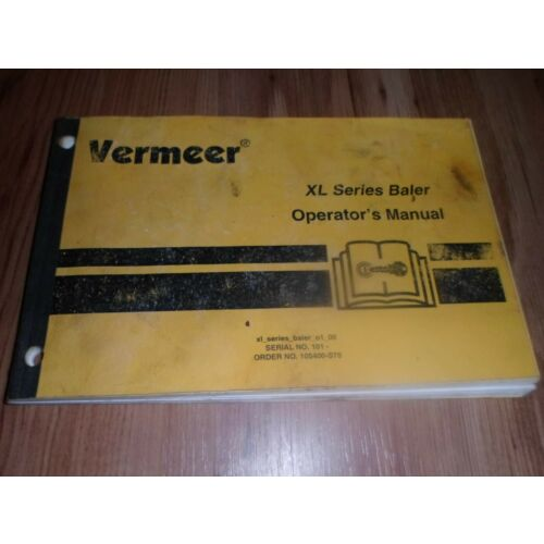 original-oe-oem-vermeer-xl-series-baler-serial-no-101-maintenance-manual-m1-00