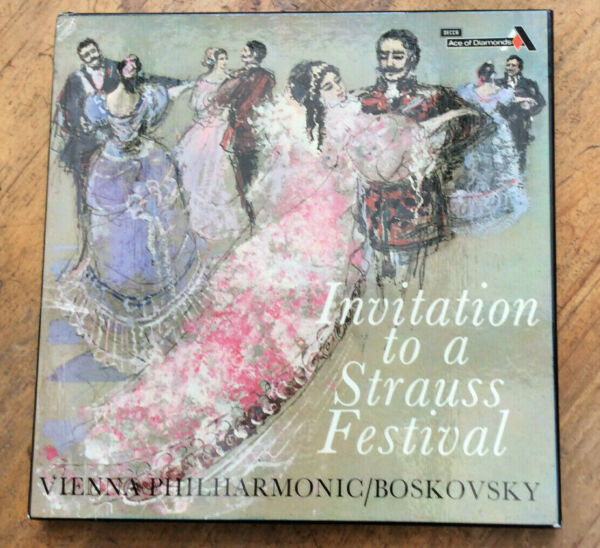 Invitation to a Strauss Festival boxset with 3 LPs Vienna Philharmonic 1967.