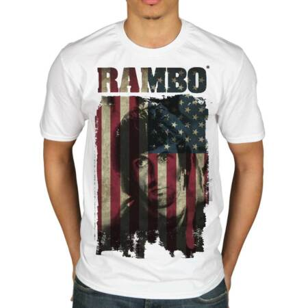 img-Official Rambo USA Distressed Flag T-Shirt Movie Merch First Blood Sylvester Sta