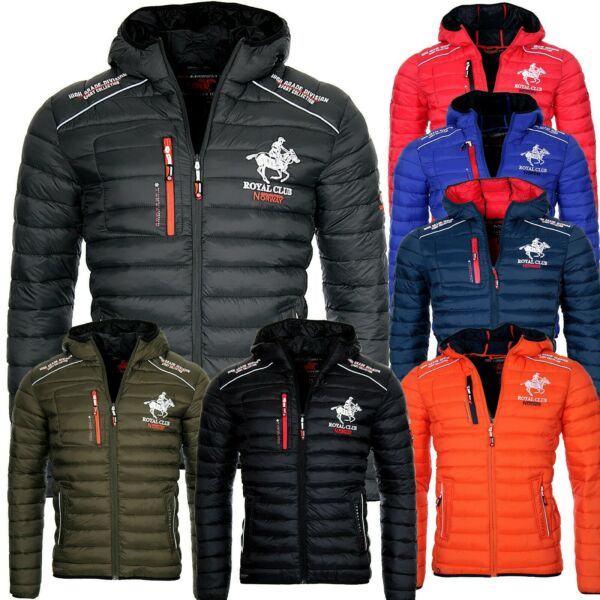 Geographical Norway Uomo Giacca Invernale Trapuntata Bomber Warmgesteppt Nuovo
