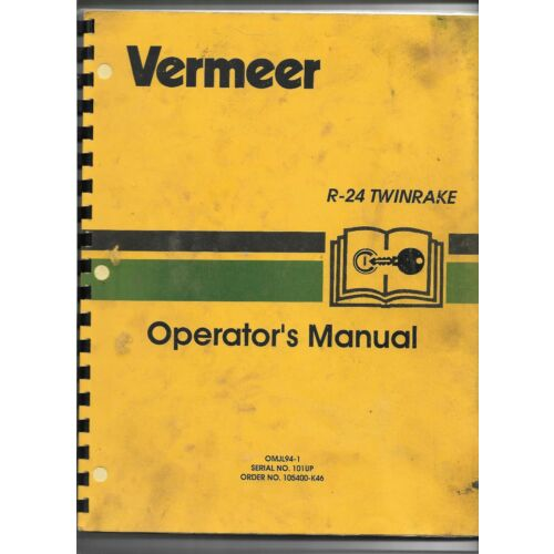 original-oem-vermeer-model-r24-twinrake-sn-101-up-operators-manual-105400k46