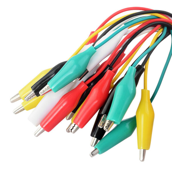 10Pcs Electrical Alligator Clips Test Leads Jumper Wires Circuit Connection 81A