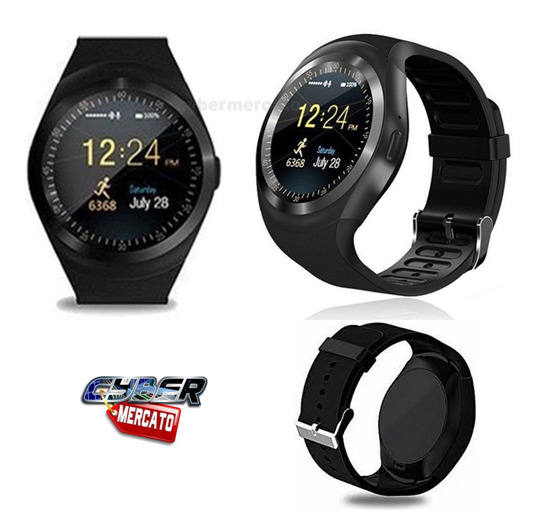 OROLOGIO SMARTWATCH ANDROID IOS BLUETOOTH CON SIM E SLOT MICRO SD Y1 NERO
