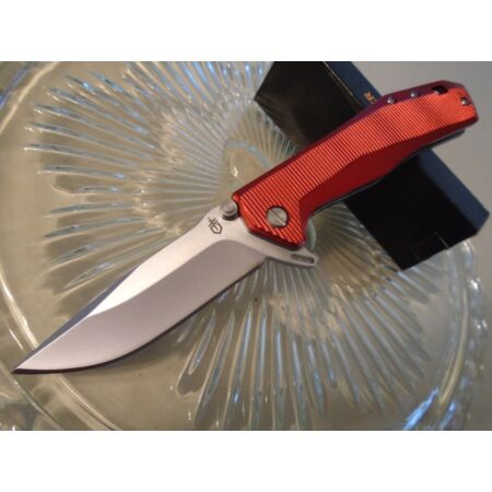 img-Couteau Gerber Index Linerlock Red Lame Acier 5Cr15MoV Manche Aluminium G1355