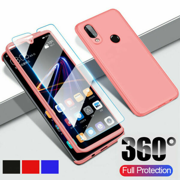 Samsung Galaxy A10 A20e A40 A50 A70 Shockproof 360° Case Cover+Screen Protector